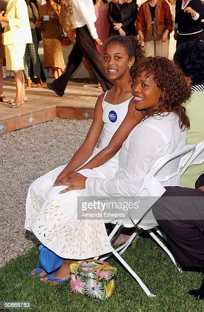 Actress Alfre Woodward and her daughter Mavis attend the 'Lift Ev'ry Vote' Hollywood fundraiser for Democratic Presidential frontrunner John Kerry on...