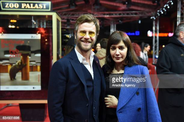 Actress Algi Eke and Actor Ozgur Cevik attend the red carpet of 'Kaygi / Inflame' during the 67th Berlinale International Film Festival Berlin at Zoo...