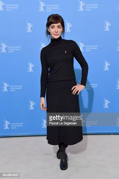 Actress Algi Eke attends the 'Inflame' photo call during the 67th Berlinale International Film Festival Berlin at Grand Hyatt Hotel on February 12...