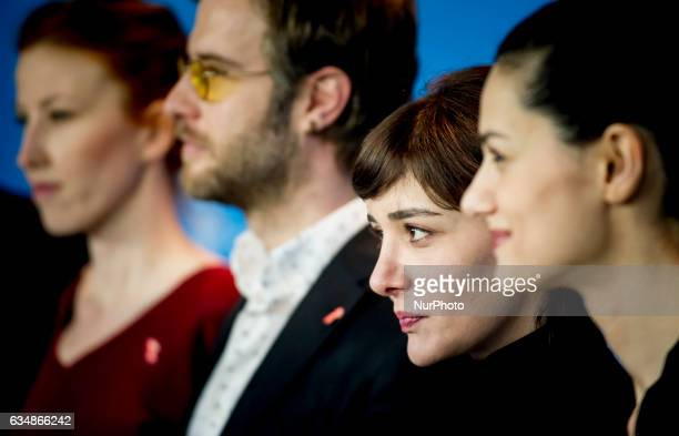 Actress Algi Eke attends the Inflame photocall during the 67th Berlinale International Film Festival Berlin at Grand Hyatt Hotel on February 12 2017...
