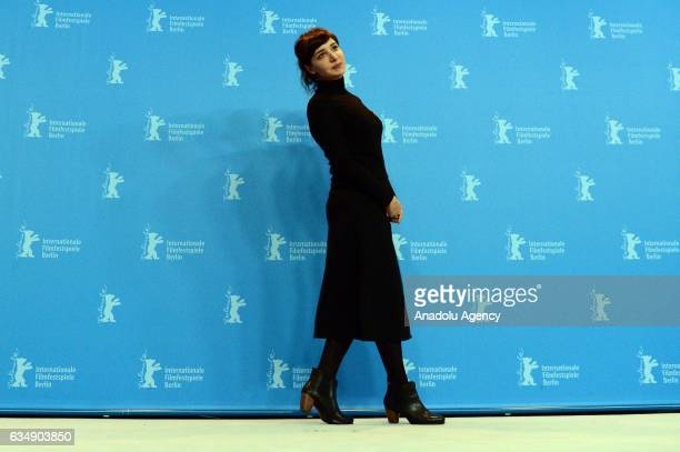 Actress Algi Eke attends the photocall of 'Kaygi / Inflame' during the 67th Berlinale International Film Festival Berlin at Grand Hyatt Hotel in...