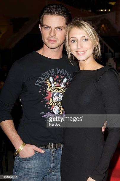 Actress Ali Bastian and dancer Brian Fortuna attend the opening of the new Ed Hardy store at Westfield on December 1 2009 in London England