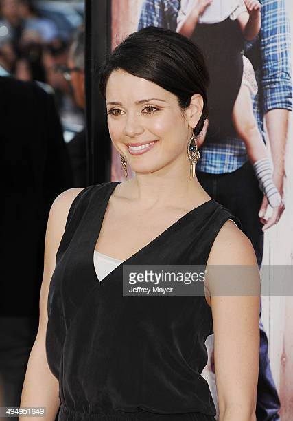 Actress Ali Cobrin arrives at the Los Angeles premiere of 'Neighbors' at Regency Village Theatre on April 28 2014 in Westwood California