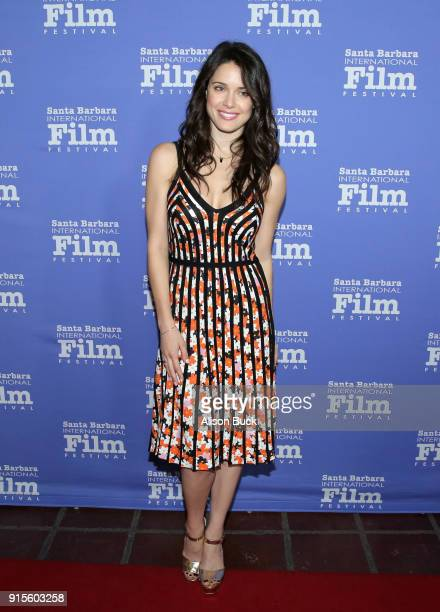 Actress Ali Cobrin at The American Riviera Award Honoring Sam Rockwell during The 33rd Santa Barbara International Film Festival at Arlington Theatre...