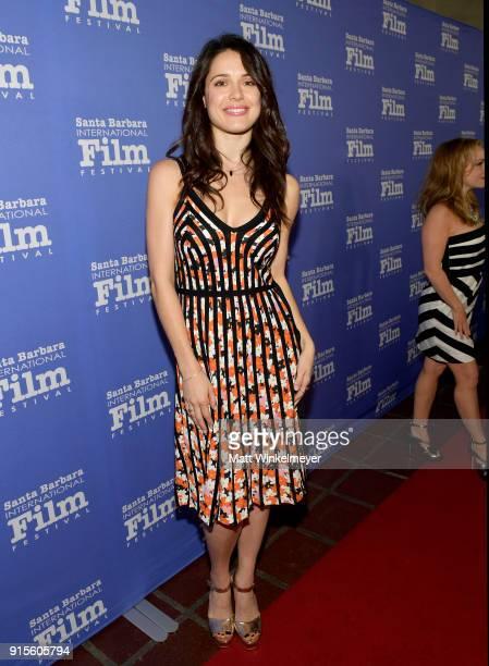 Actress Ali Cobrin at The American Riviera Award Honoring Sam Rockwell during The 33rd Santa Barbara International Film Festival at Arlington Theatre...