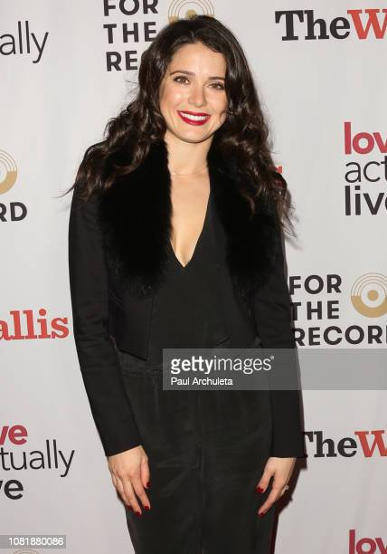 Actress Ali Cobrin attends the opening night reception for 'Love Actually Live' at Wallis Annenberg Center for the Performing Arts on December 12...