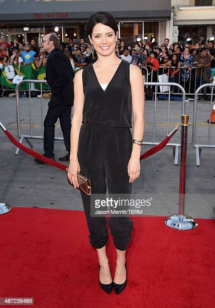 Actress Ali Cobrin attends Universal Pictures' 'Neighbors' premiere at Regency Village Theatre on April 28 2014 in Westwood California