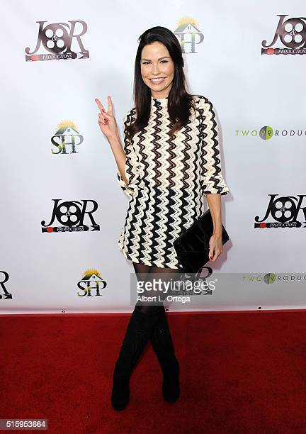 Actress Ali Costello arrives for the Premiere Of JR Productions' 'Halloweed' held at TCL Chinese 6 Theatres on March 15 2016 in Hollywood California
