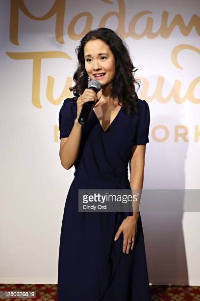 Actress Ali Ewoldt performs as Madame Tussauds New York brings back a taste of Broadway to New York City with a series of Broadway performances from...