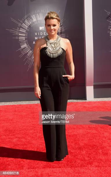 Actress Ali Fedotowsky attends the 2014 MTV Video Music Awards at The Forum on August 24 2014 in Inglewood California
