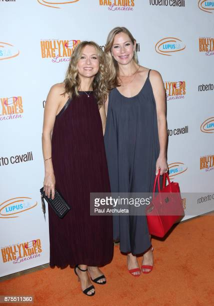 Actress Ali Hillis and Meredith Monroe attend the Lupus LA 15th annual Hollywood Bag Ladies Lunch at The Beverly Hilton Hotel on November 17 2017 in...