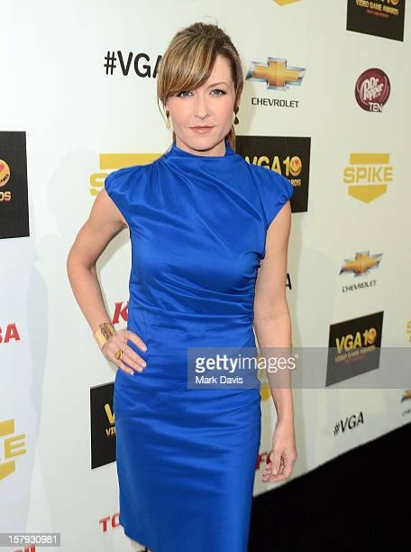 Actress Ali Hillis arrives at Spike TV's 10th annual Video Game Awards at Sony Pictures Studios on December 7 2012 in Culver City California