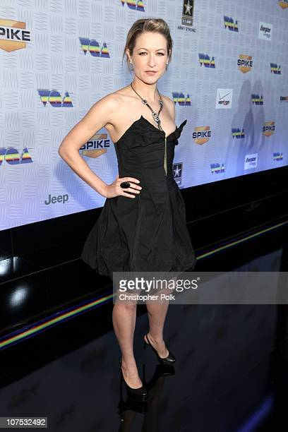 Actress Ali Hillis arrives at Spike TV's '2010 Video Game Awards' held at the LA Convention Center on December 11 2010 in Los Angeles California