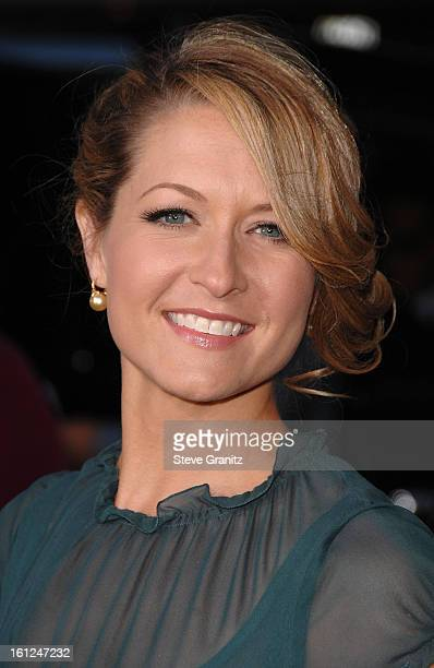 Actress Ali Hillis arrives at 'The Heartbreak Kid' premiere at the Mann Village Theatre on September 27 2007 in Westwood California