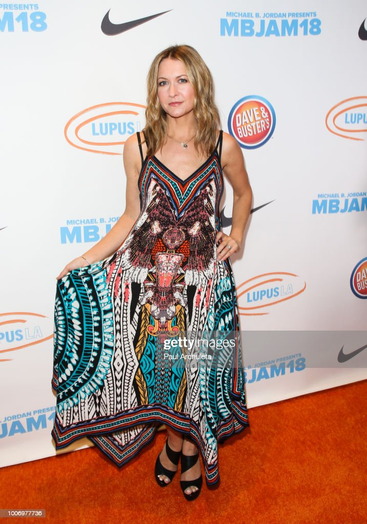 Actress Ali Hillis attends the 2nd annual MBJAM18 presented by Michael B. Jordan and Lupus LA at Dave & Buster's on July 28, 2018 in Los Angeles, California.