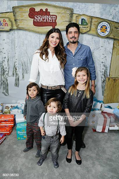 Actress Ali Landry Alejandro Gomez Monteverde Valentin Monteverde Marcelo Monteverde and Estela Monteverde attend 2015 Santa's Secret Workshop...