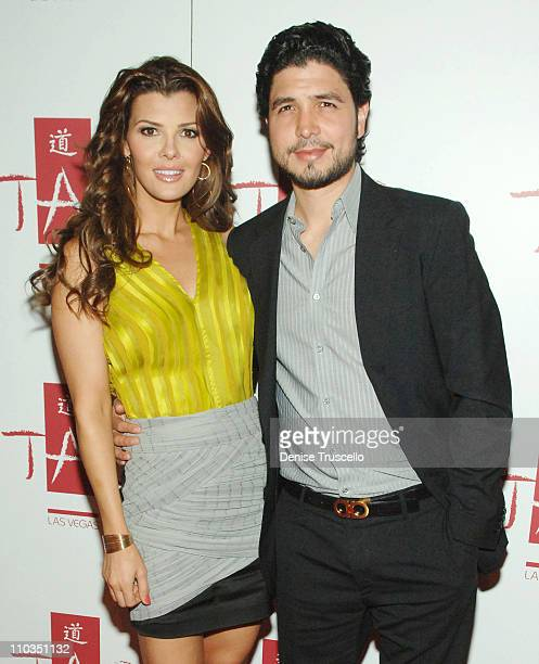 Actress Ali Landry and director Alejandro Monteverde arrive at the first hot moms party at TAO Nightclub in The Venetian Hotel and Casino Resort on...