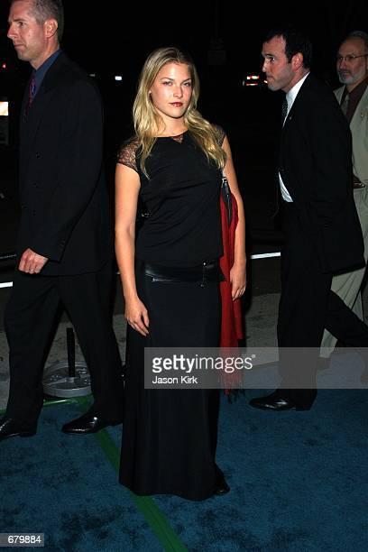Actress Ali Landry arrives at the 11th Annual Environmental Media Awards at the Ebell Club November 7 2001 in Los Angeles CA