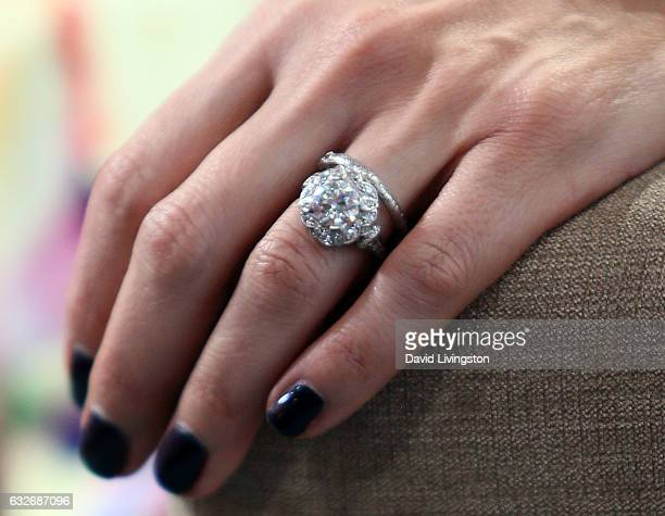 Actress Ali Landry ring detail attends Hollywood Today Live at W Hollywood on January 25 2017 in Hollywood California