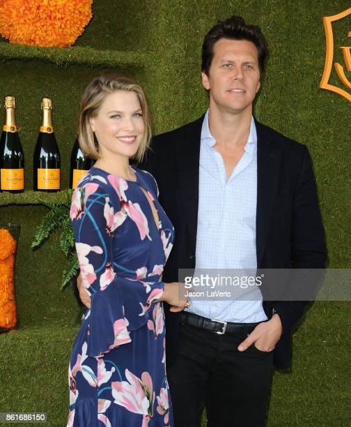 Actress Ali Larter and actor Hayes MacArthur attend the 8th annual Veuve Clicquot Polo Classic at Will Rogers State Historic Park on October 14 2017...