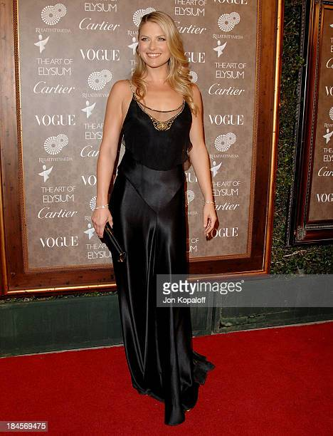 Actress Ali Larter arrives at the Art of Elysium's 2nd Annual Black Tie Charity Gala Heaven at Vibiana on January 10 2009 in Los Angeles California