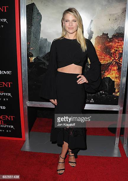 Actress Ali Larter arrives at the Los Angeles premiere Resident Evil The Final Chapter at Regal LA Live A Barco Innovation Center on January 23 2017...