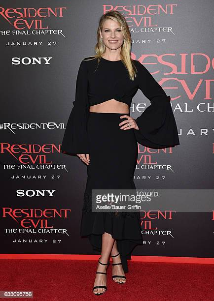 Actress Ali Larter arrives at the premiere of Sony Pictures Releasing's 'Resident Evil The Final Chapter' at Regal LA Live A Barco Innovation Center...