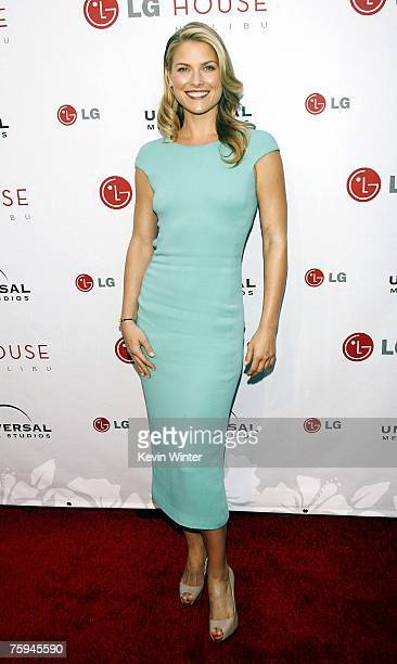 Actress Ali Larter arrives at the Universal Media Studios Emmy Party at the LG House on August 2 2007 in Malibu California