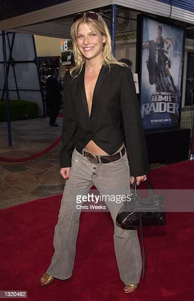 """Actress Ali Larter arrives at the world premiere of Paramount Pictures'' """"Lara Croft: Tomb Raider"""" June 11 at the Mann Village Theatre in the..."""
