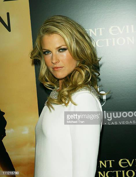 Actress Ali Larter arrives at the World Premiere of Resident Evil Extinction at Planet Hollywood Resort and Casino on September 20 2007 in Las Vegas...