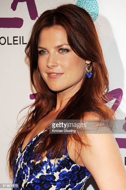 Actress Ali Larter arrives for the Cirque Du Solei Opening Night Gala For Kooza at the Santa Monica Pier on October 16 2009 in Santa Monica California