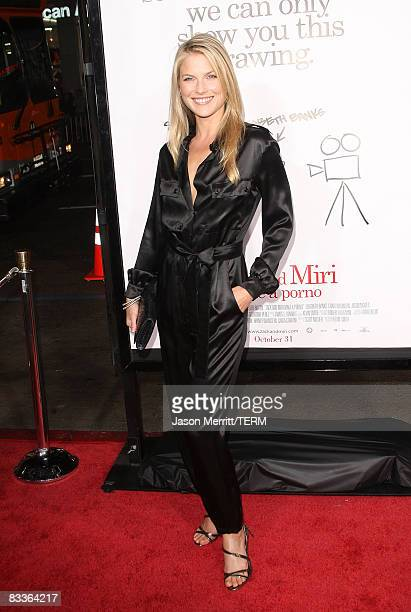 Actress Ali Larter at the Zack and Miri Make a Porno Los Angeles premiere on October 20 2008 in Hollywood California