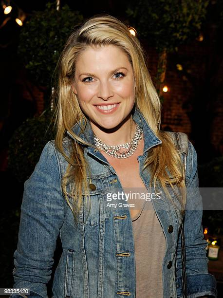 Actress Ali Larter attends the Anna Getty 'Easy Green Organic Cook Well Eat Well Live Well' Book Party at Rolling Greens on April 7 2010 in Los...