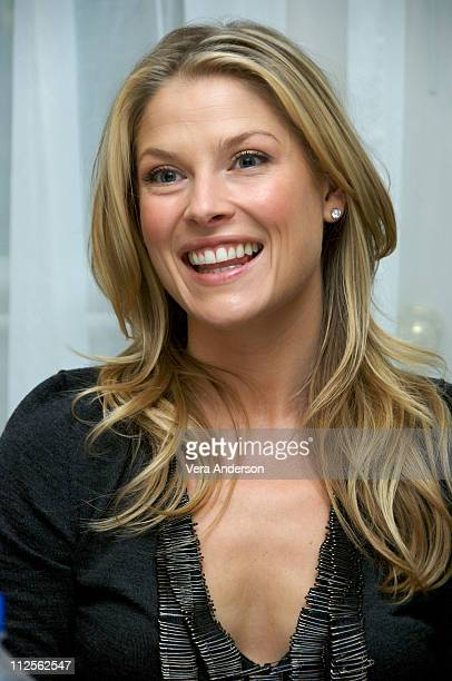 Actress Ali Larter attends the Heroes press conference at the Four Seasons Hotel on October 12 2007 in Beverly Hills California