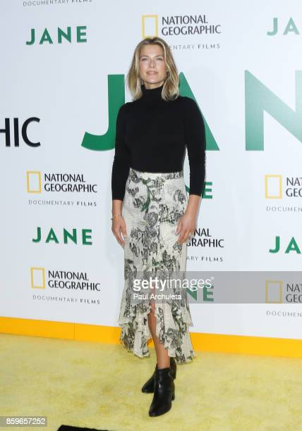 Actress Ali Larter attends the premiere of National Geographic documentary films' 'Jane' at the Hollywood Bowl on October 9 2017 in Hollywood...