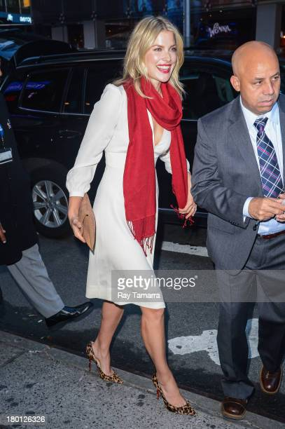 Actress Ali Larter enters the 'Good Morning America' taping at the ABC Times Square Studios on September 9 2013 in New York City