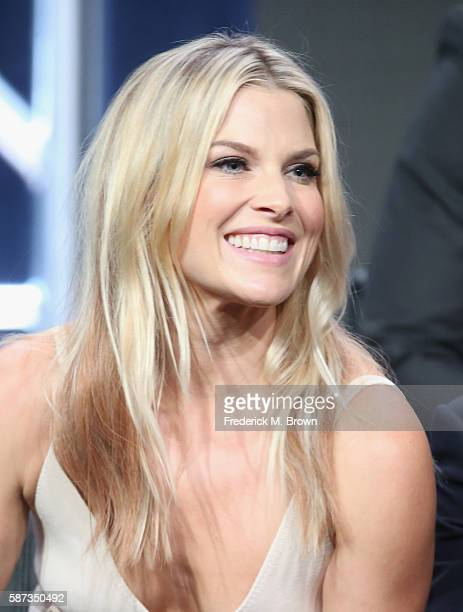 Actress Ali Larter speaks onstage at the 'Pitch' panel discussion during the FOX portion of the 2016 Television Critics Association Summer Tour at...