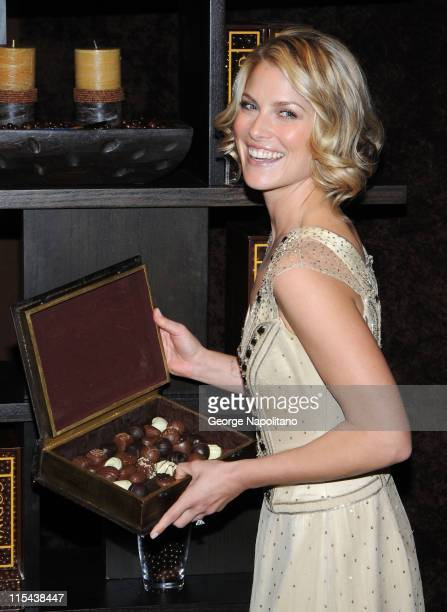 Actress Ali Larter unveils The Godiva Decadence Suite at Divine Studios on January 29 2008 in New York City
