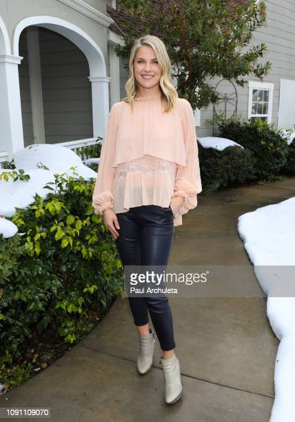 Actress Ali Larter visits Hallmark's Home Family at Universal Studios Hollywood on January 07 2019 in Universal City California