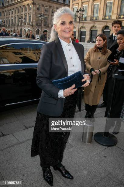 Actress Ali MacGraw attends the CHANEL J12 cocktail on Place Vendome on May 02, 2019 in Paris, France.