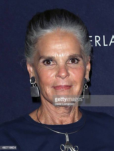 Actress Ali MacGraw attends the curtain call for Love Letters at the Wallis Annenberg Center for the Performing Arts on October 14 2015 in Beverly...