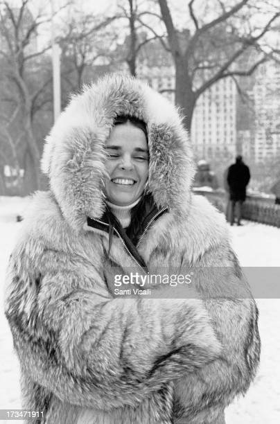 Actress Ali MacGraw on the set of Love Story on March 30,1970 in New York, New York.