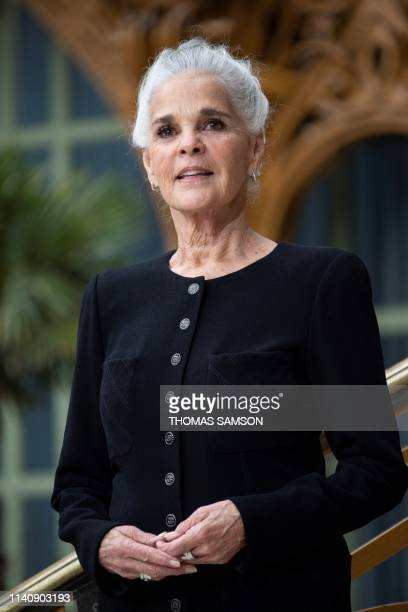 Actress Ali MacGraw poses during the photocall prior to the 2020 Chanel Croisiere fashion show at the Grand Palais in Paris on May 3, 2019.