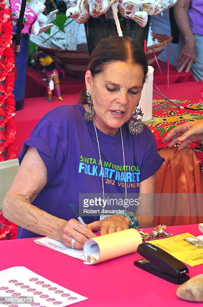 Actress Ali MacGraw serves as a volunteer salesperson at the 2012 Santa Fe International Folk Art Market The actress lives in Santa Fe New Mexico and...