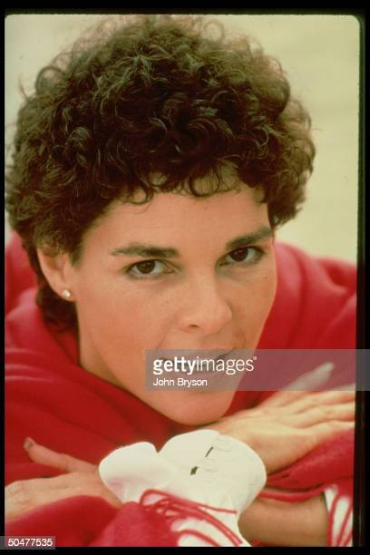 Actress Ali MacGraw sporting new curly hairstyle in publicity still for motion picture Convoy