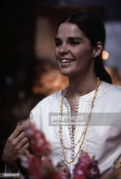 Actress Ali McGraw poses for a portrait on March 27 1969 in New York City New York