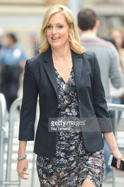 Actress Ali Wentworth leaves the 'AOL Build' taping at the AOL Studios on June 14 2017 in New York City