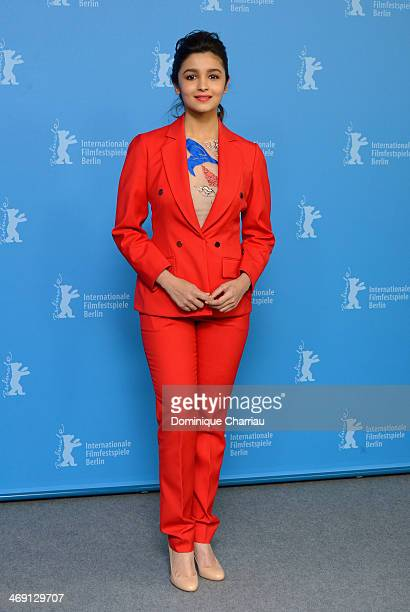 Actress Alia Bhatt attends the 'Highway' photocall during 64th Berlinale International Film Festival at Grand Hyatt Hotel on February 13 2014 in...
