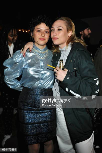 Actress Alia Shawkat and singer Samantha Urbani attend the Premiere of KENZO Presents 'Music Is My Mistress' a film by Kahlil Joseph at The...