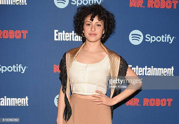 Actress Alia Shawkat attends a dinner hosted by Entertainment Weekly celebrating Mr Robot at the Spotify House in Austin TX during SXSW on March 12...